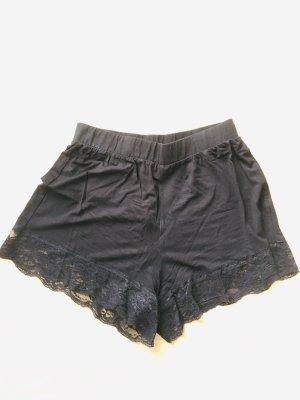 Asos Pantalón corto de talle alto negro