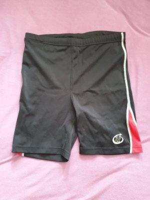 Unlimited Pantaloncino sport nero-rosso mattone