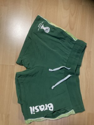 Pantalón corto deportivo blanco-verde bosque
