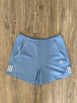 Adidas Pantalone da ginnastica azzurro-bianco
