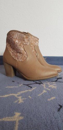 Heel Boots sand brown