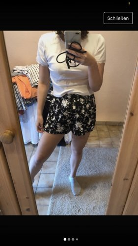 Asos Spodnie z wysokim stanem czarny-biały