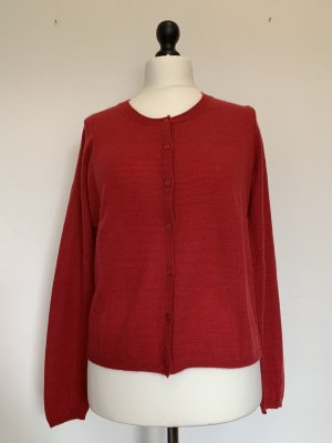 0039 Italy Cardigan tricotés rouge framboise