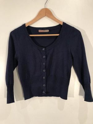 Saint Tropez Veste en tricot bleu foncé