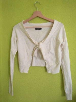 Torera de punto blanco lana de angora