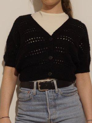 H&M Knitted Bolero black mohair