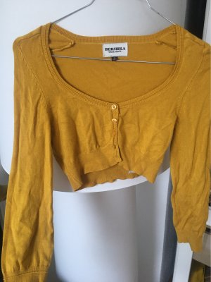 Bershka Knitted Bolero gold orange
