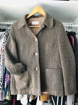 Kurze Tweedjacke aus Schur-Wolle