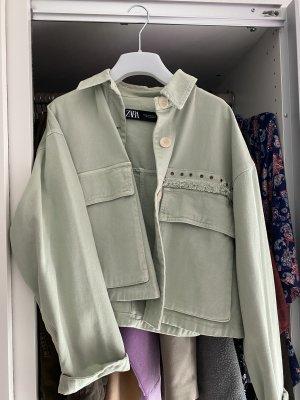 Kurze Übergangsjacke grün Mint XS Damen!