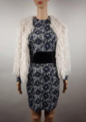 H&M Kurtka ze sztucznym futrem w kolorze białej wełny-kremowy