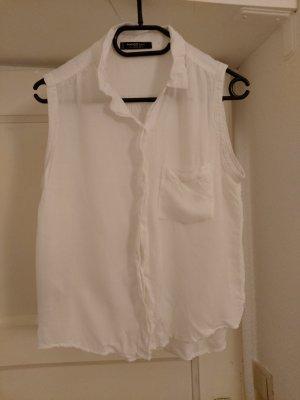 kurze weiße Bluse selten getragen