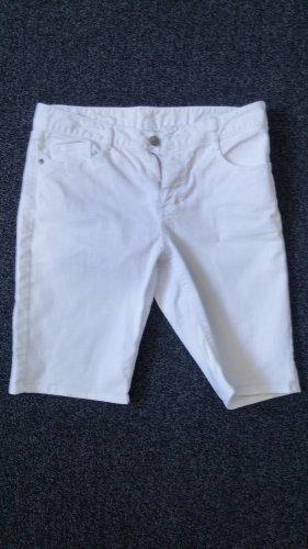 Kurze weiße Jeans