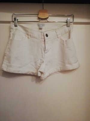 Kurze weiße Jeanshose
