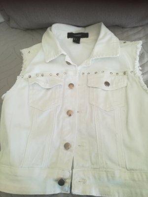 Forever 21 Smanicato jeans bianco