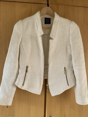 Zara Basic Blazer en tweed blanc