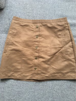 H&M Faux Leather Skirt multicolored
