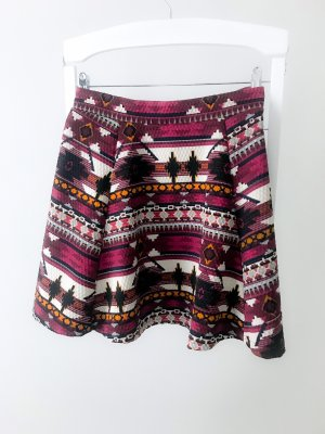 H&M Divided Flared Skirt multicolored