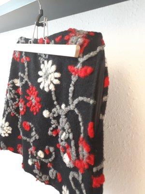bellanatur Spódnica mini czarny-ceglasty