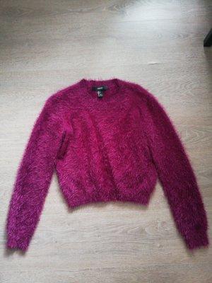 Kurzer flauschiger Pullover