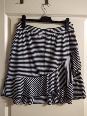 Janina Volanten rok zwart-wit Polyester