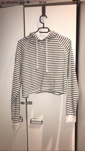 H&M Jersey con capucha blanco-negro