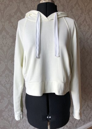 Happiness Hooded Sweater pale yellow cotton