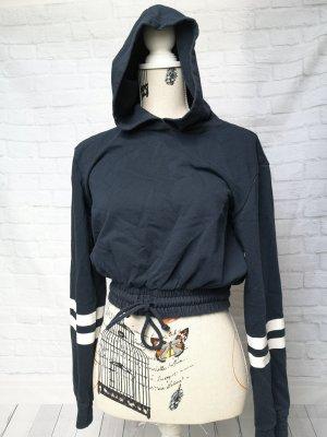 kurzer hoodie mit kapuze