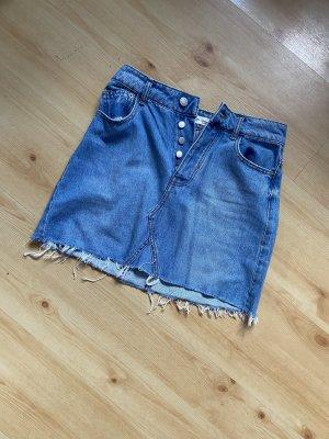 Bershka Denim Skirt blue