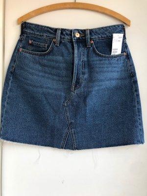 H&M Gonna di jeans blu acciaio Cotone