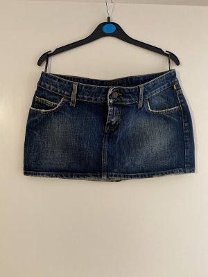 Meltin Pot Jupe en jeans bleu foncé coton