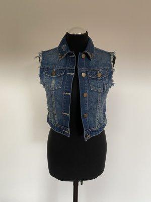 Smanicato jeans blu acciaio