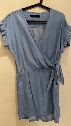 Vero Moda Robe à manches courtes bleu azur lyocell