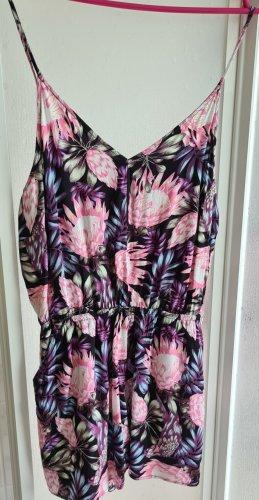 H&M Kurzer Jumpsuit black-pink