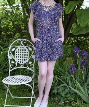 Kurzer Jumpsuit im Blumenprint, S, TRF, Zara Collection, nur 1x getragen