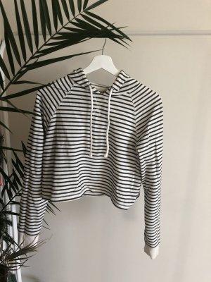 H&M Hooded Sweater white-black