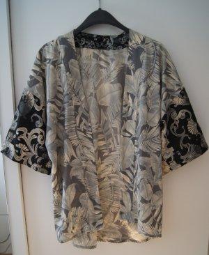 kurzer Kimono / Kurzarm-Jacke/ Muster / Asia / mint schwarz beige / kurzer Arm