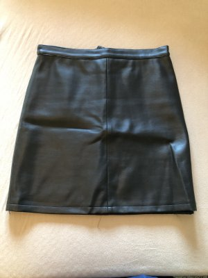 10 Dence Faux Leather Skirt black