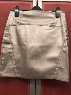 0039 Italy Spódnica mini szaro-brązowy-srebrny