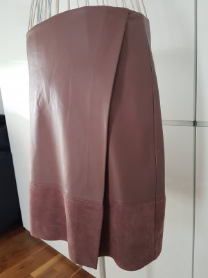 Comma Faux Leather Skirt multicolored polyester