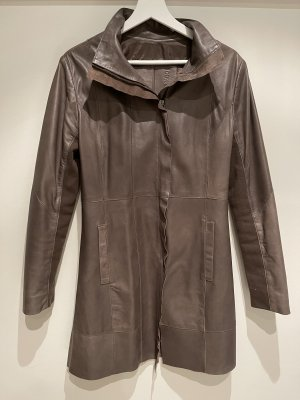 Cigno Nero Leather Coat light brown