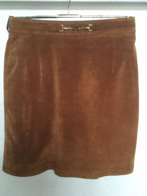 Apart Leather Skirt brown