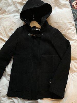 Pull & Bear Abrigo corto negro-color oro