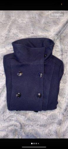 H&M Manteau polaire violet foncé-bleu foncé