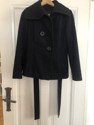 Kurzer Mantel Jacke Wolle
