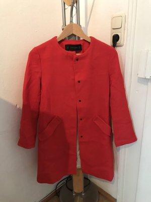 Zara Short Coat brick red-magenta