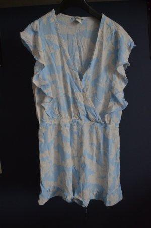 H&M Basic High waist short azuur-licht beige Viscose
