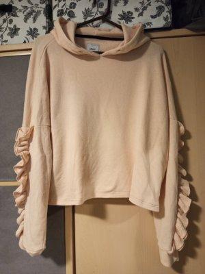 Only Sweter z kapturem różany