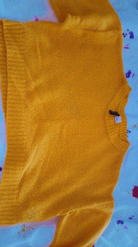 H&M Pullover a maglia grossa giallo-oro