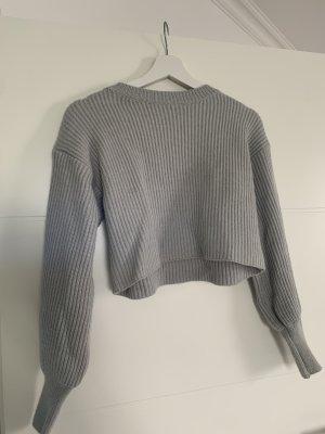 Pullover a maglia grossa grigio chiaro