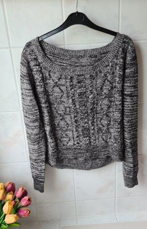 H&M Warkoczowy sweter Wielokolorowy